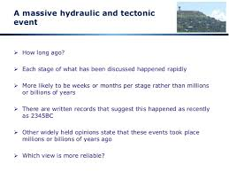 07 the real date of this global hydraulic event or flood