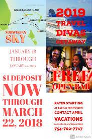 2019 travel divas getaway norweigian sky miami from 18 to 21