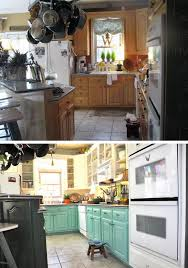 Before And After Kitchen Cabinet Painting Before And After 25 Budget Friendly Kitchen Makeover Ideas Hative
