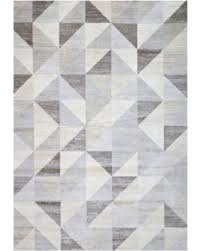 Modern Geometric Rugs Sale Silver Gray And White Modern Geometric Triangle Pattern Rug