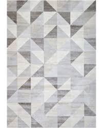 White Modern Rug Sale Silver Gray And White Modern Geometric Triangle Pattern Rug