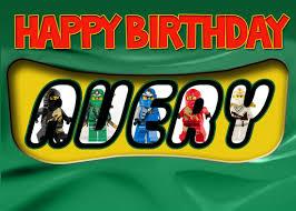 lego ninjago birthday card