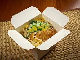 cuisine à emporter porc rôti et udon nouille nourriture à emporter image stock
