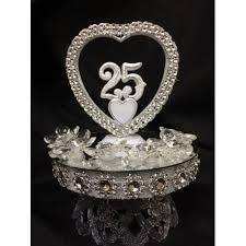 25th anniversary cake toppers 25th anniversary or birthday cake topper