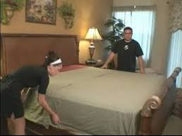 How To Make The Bed How To Make A Bed How To Put Flat Sheets On Beds Youtube