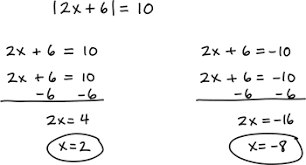 absolute value equation example 1