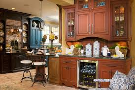 Kitchen Hutch With Desk Wine Hutch Dining Room Traditional With Buffet Dark Wood Floor