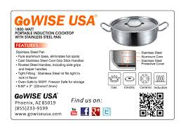 Induction Cooktop Aluminum Portable Induction Cooktop With Stainless Steel Pan Gw22616