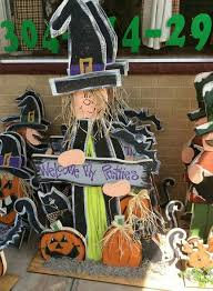 Halloween Wood Craft Patterns - welcome my pretties witch halloween wood craft yard and garden