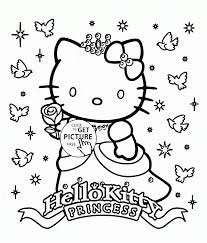 film coloring pages for kids hello kitty christmas coloring