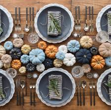 thanksgiving tabletop ideas beautiful colored pumpkin centerpiece tablescape idea for fall and