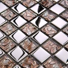 Mirrored Mosaic Tile Backsplash by 2017 Glass Mosaic Tiles Backsplash Brown Crystal Glass Kitchen
