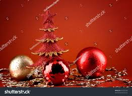 red christmas sparkle tree globes silver stock photo 41552578