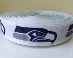 seahawk ribbon 1 3 5 7 or 10 yards seattle seahawks 7 8 grosgrain ribbon