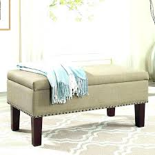 Storage Ottoman Uk Bed Ottoman Bench Tufted Fabric Storage Bench Beige Transitional