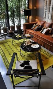 Einrichtung Teppich Wohnzimmer Gelber Teppich Für Eine Frische Und Strahlende Zimmergestaltung