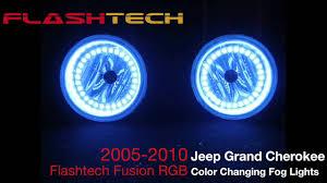 2005 jeep grand fog lights jeep grand v 3 fusion colorshift led halo fog light kit