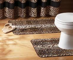leopard area rug leopard print bathroom decor bathroom home designing decorating