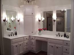 Corner Bathroom Vanity Cabinets Corner Bathroom Vanity Cabinet With Integrated Marble Sink Using