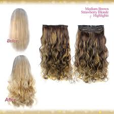 Blonde Hair Extensions Clip In by Wiwigs Half Head 1 Piece Clip In Curly Strawberry Blonde Hair