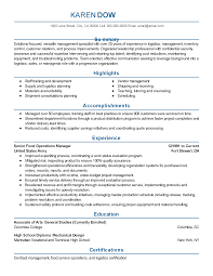 Logistic Resume Samples by Professional Food Operations Manager Templates To Showcase Your