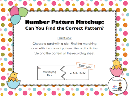 pattern games for third grade day 13 freebie number patterns and their rules recording sheet