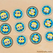 minions cake toppers free printable despicable me minions cupcake toppers