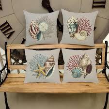 Home Decor Throw Pillows by Online Get Cheap Seashell Throw Pillows Aliexpress Com Alibaba