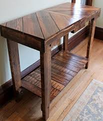 Wood Entry Table Solid Wood Pallet Sofa Entry Table Handmade