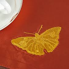 Butterfly Desk Accessories Embroidered Butterfly Placemat Dining Rustic Plain Table Mats
