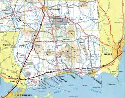Louisiana Mississippi Map by Interstate Guide Interstate 10