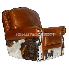 leather cowhide recliner glider swivel recliner