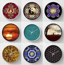 cool wall clocks designed with webgrrl u0027s graphic arts and photography