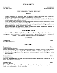 Home Child Care Provider Resume Social Work Resume Template Case Worker Resume Sample Template