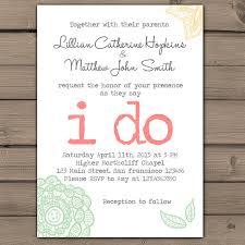 Country Chic Wedding Invitations Wedding Invitation I Do Lace Wedding Invites Typewriter Rustic