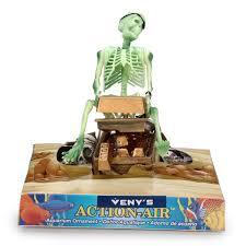 skeleton on treasure chest air aquarium ornament alex nld