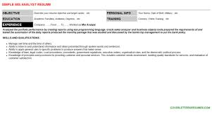 mis analyst cover letter u0026 resume