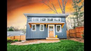 blue adu tiny house built by nanostead beautiful small house