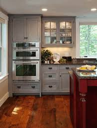 Kitchen Cabinets And Flooring Combinations Brown Granite Countertop White Kitchen Cabinet With Downlight
