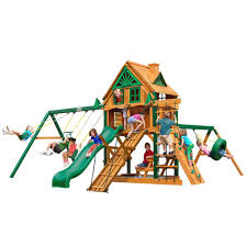 gorilla playsets frontier treehouse with fort add on and timber