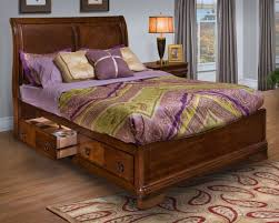 Storage Bed Sets King Classic Storage Bed Set In Burnished Cherry Finish 00 005