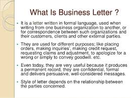 Business Letter Language reportwriting and business letter writing presentation