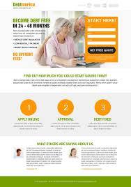 138 best debt landing page design images on pinterest landing