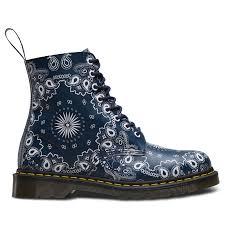 womens boots dr martens dr martens pascal bandana 8 eyelet navy white womens boots ebay