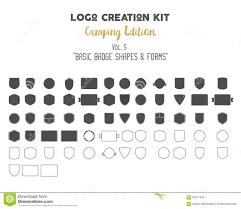 logo creation kit bundle camping edition set vector sunbursts