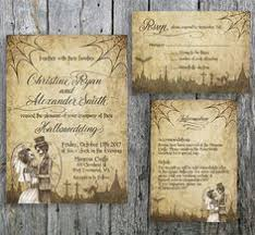 halloween wedding invitation rsvp and guest information card