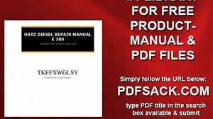 hatz diesel repair manual e 780 video dailymotion