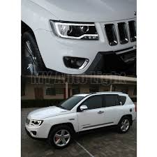 compass jeep white for 2011 2013 jeep compass grand cherokee with led drl and bi