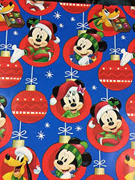 mickey mouse wrapping paper disney s mickey mouse christmas gift wrapping paper