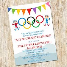Family Day Invitation Card Olympic Party Invitation Winter Olympics Birthday Invitation